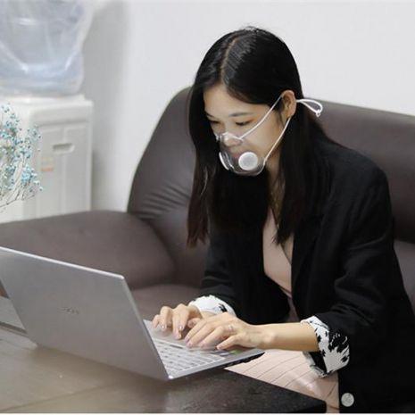 Прозрачная маска респиратор с 2-мя клапанами для женщин и детей Фото 1