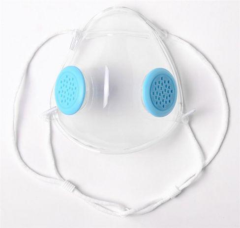 Прозрачная маска респиратор с 2-мя клапанами для женщин и детей Фото 2